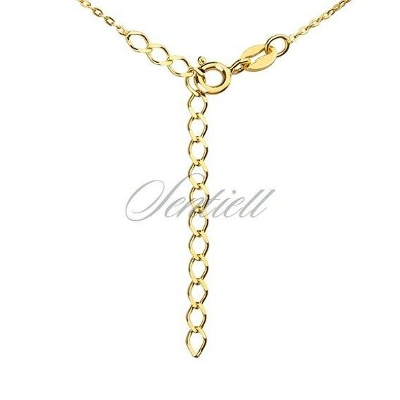 Srebrny naszyjnik pr.925 ze złoconym kółkiem