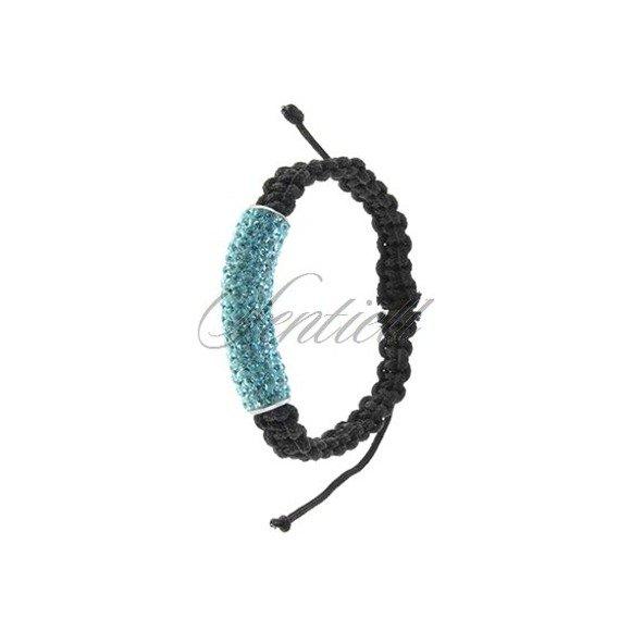 Rope bracelet (925) light blue tube