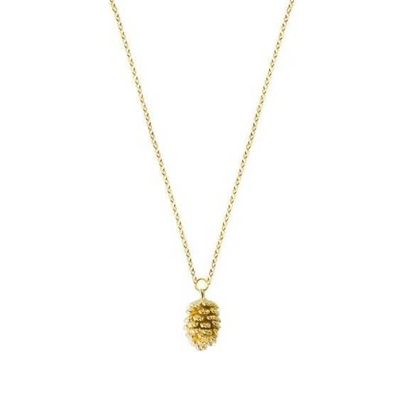 Pinecone necklace 925 gold-plated