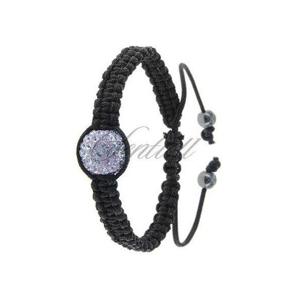 Rope bracelet (925) violet 1 disco ball