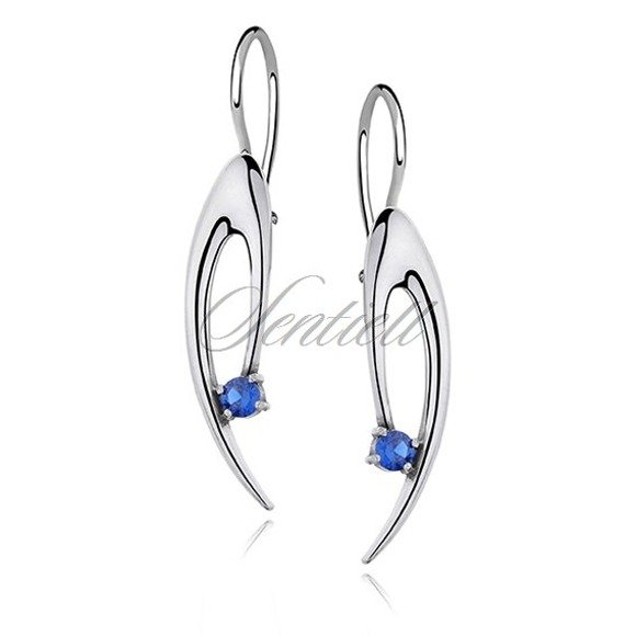 Silver (925) Earrings blue zirconia