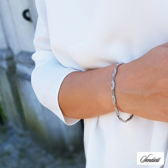Silver (925) beauty bracelet with zirconia