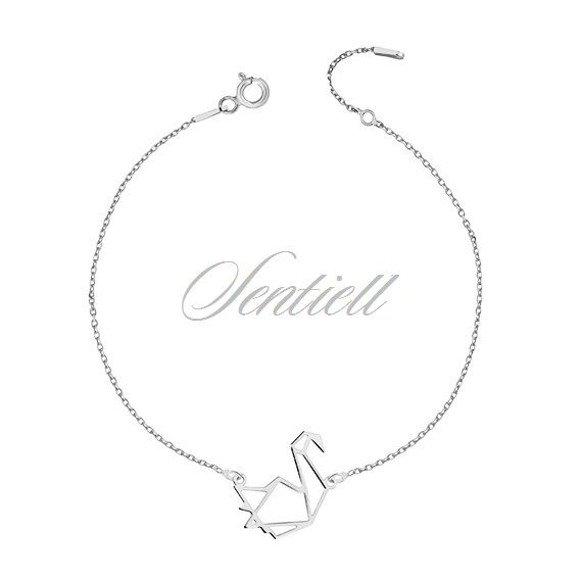 Silver (925) bracelet - Origami swan