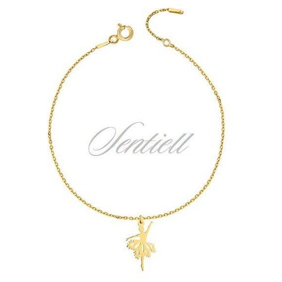 Silver (925) bracelet - ballerina, gold-plated