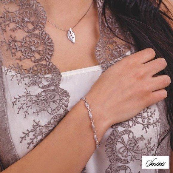Silver (925) bracelet - leafs