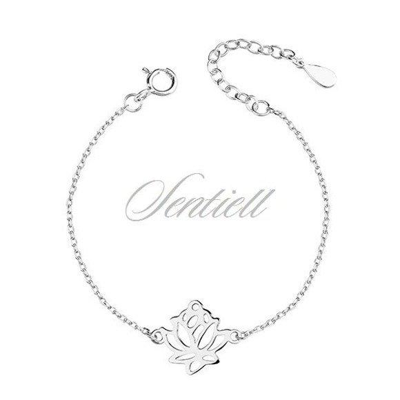 Silver (925) bracelet lotus flower