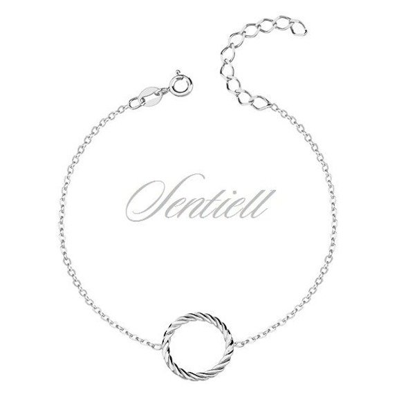 Silver (925) bracelet of celebrities with circle