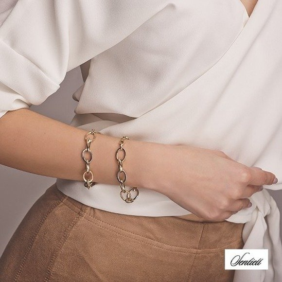 Silver (925) bracelet with gold-plated elements