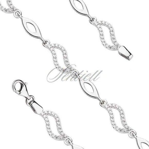 Silver (925) bracelet with zirconia