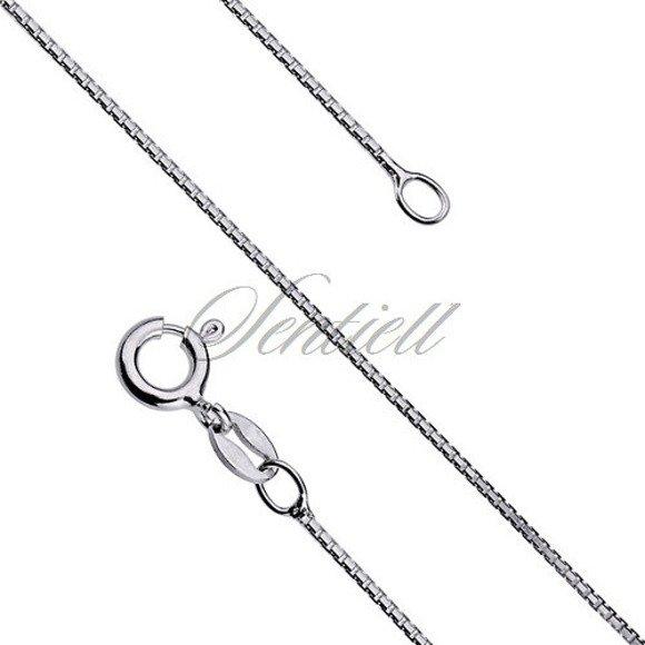 Silver (925) chain necklace venezian box  Ø 020 diamond-cut