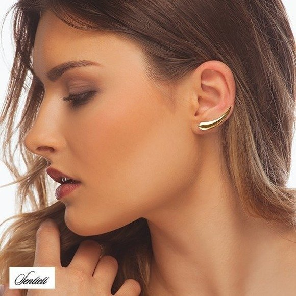 Silver (925) cuff earrings, gold-plated
