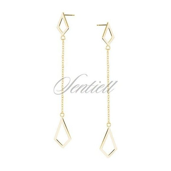 Silver (925) earrings gold-plated