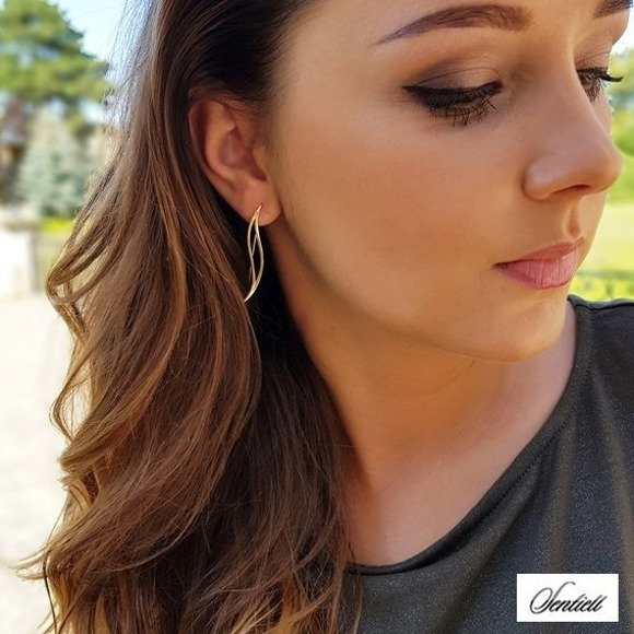 Silver (925) earrings, gold-plated