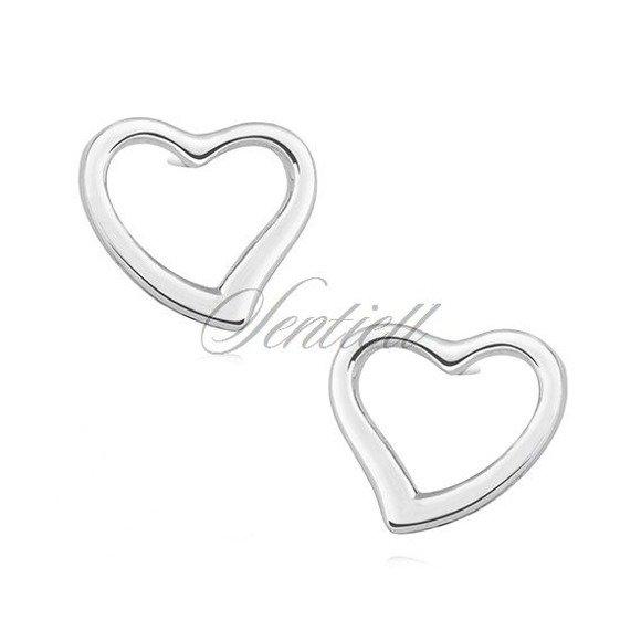 Silver (925) earrings - hearts