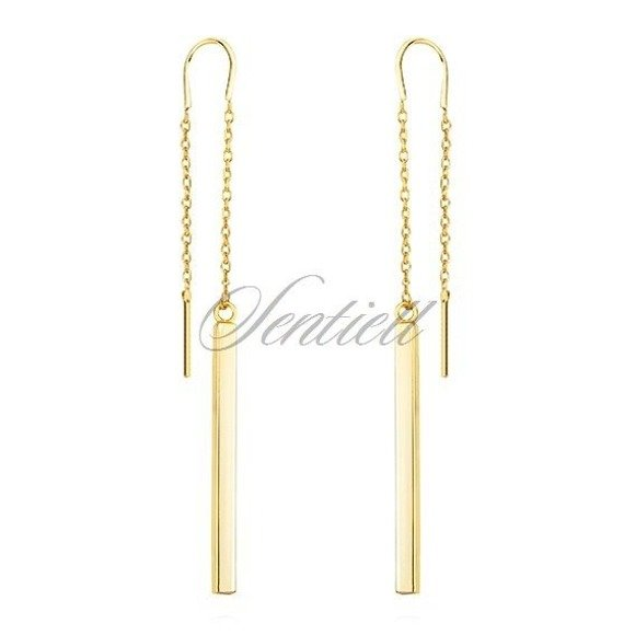 Silver (925) gold plated earrings