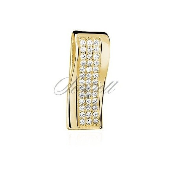 Silver (925) gold-plated pendant with zirconia