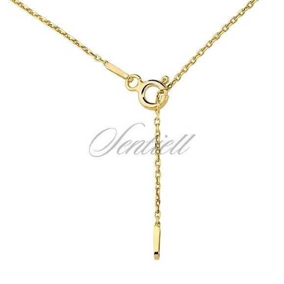 Silver (925) necklace - Origami swan gold-plated