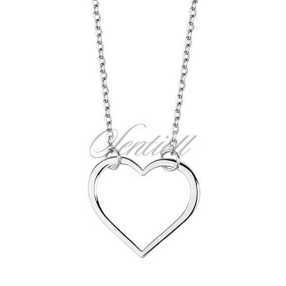 Silver (925) necklace heart