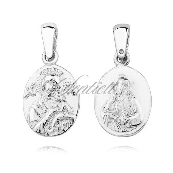 Silver (925) pendant - Jesus Christ / Our Lady of Perpetual Help