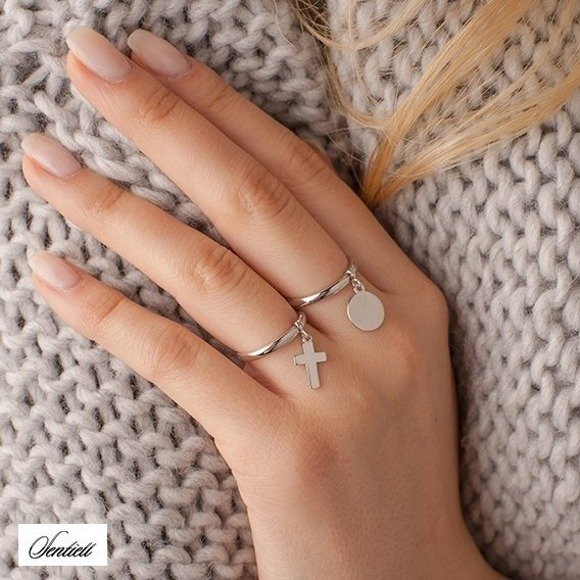 Silver (925) ring - cross