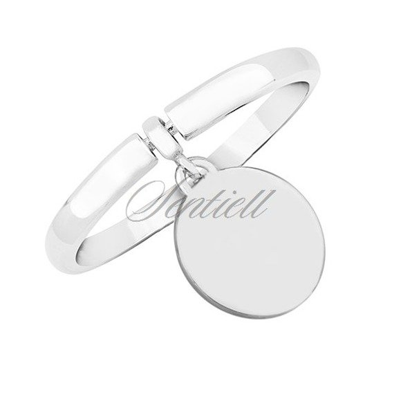 Silver (925) ring - round pendant