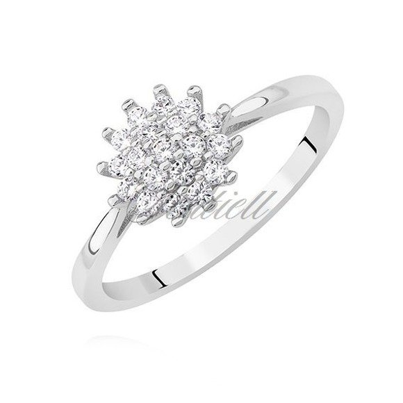 Silver (925) ring with white zirconia