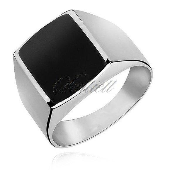 Silver signet ring 925 Onyx