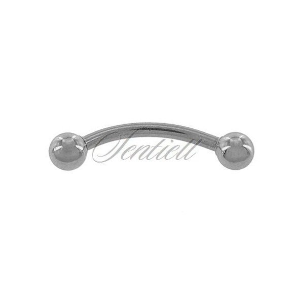 Stainless steel (316L) banana piercing for eyebrow - balls