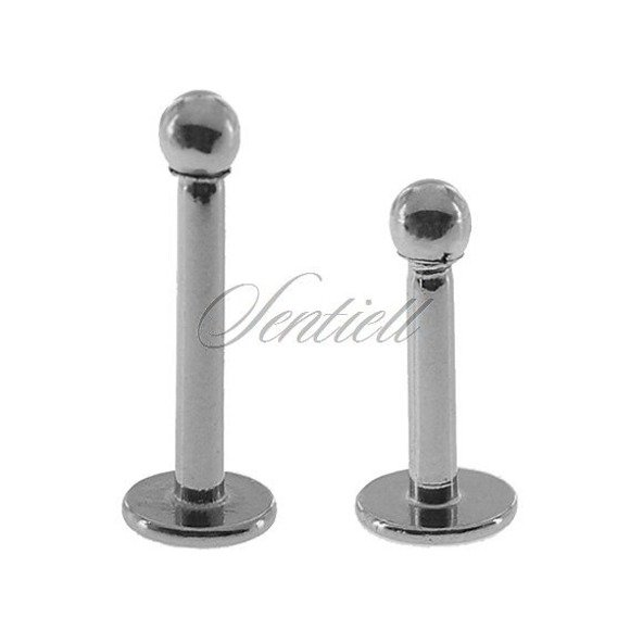 Stainless steel (316L) labret piercing with ball - for lips and chin