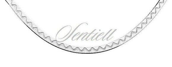 Bransoletka ozdobna srebrna taśma z wzorem pr. 925 Ø 040 waga od 2,9g