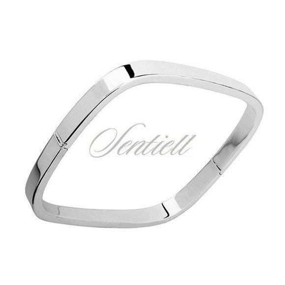 Bransoletka srebrna pr.925 kwadratowa (bangiel) szerokość 5 mm