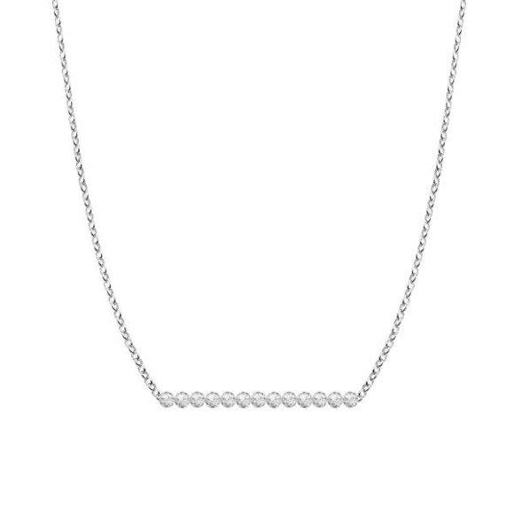 KWIECIEŃ - naszyjnik srebrny z kryształem górskim
