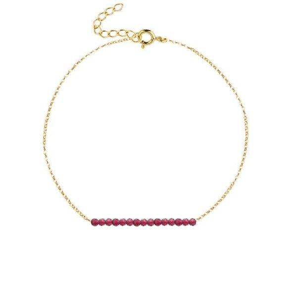LIPIEC - bransoletka pozłacana z rubinem