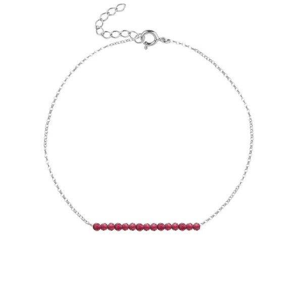 LIPIEC - bransoletka srebrna z rubinem