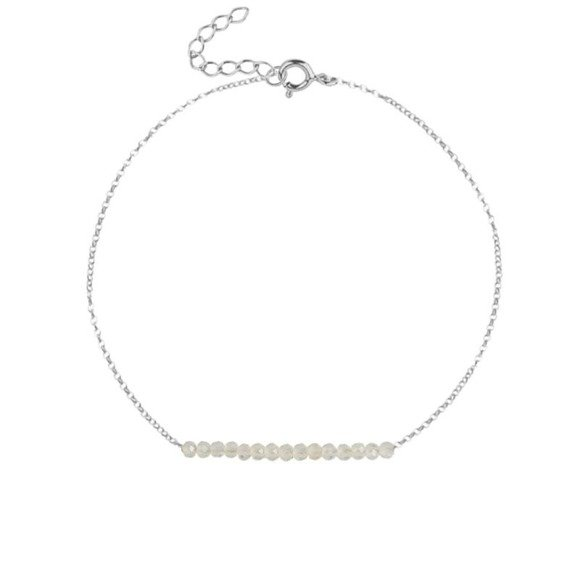 LISTOPAD - bransoletka srebrna z cytrynem