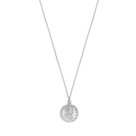 Moneta srebrny naszyjnik