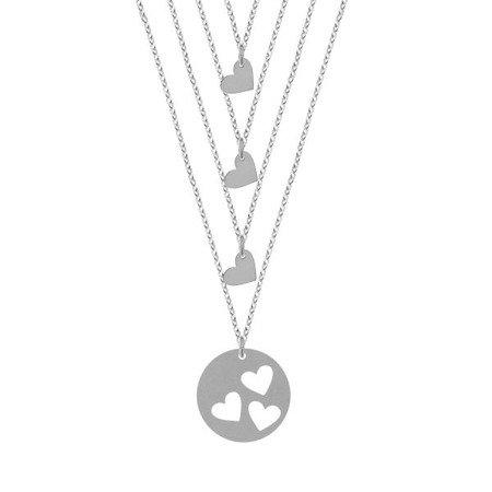 Mother & Daughter komplet srebrnych naszyjników dla mamy i trzech córek