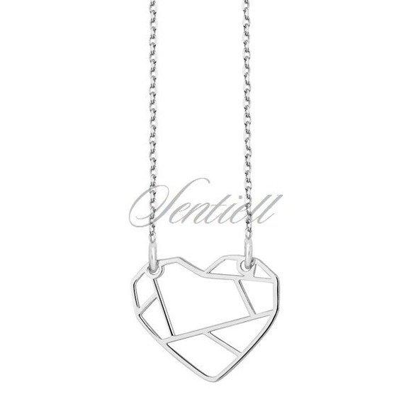 Naszyjnik celebrytka serce origami srebro 925