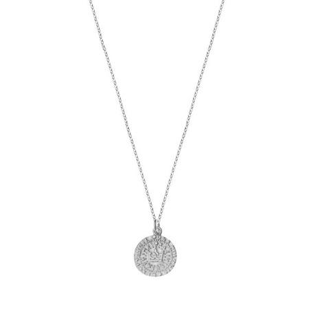 Naszyjnik srebrny z antyczną monetą