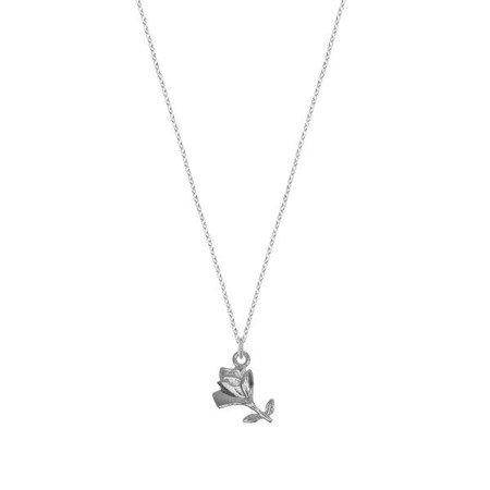 Naszyjnik srebrny z różą srebro 925