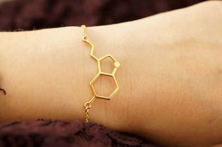 Serotonina bransoletka pozłacana