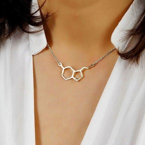 Serotonina srebrny naszyjnik