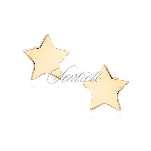 Srebrne kolczyki pr.925 pozłacane minimalistyczne gwiazdki