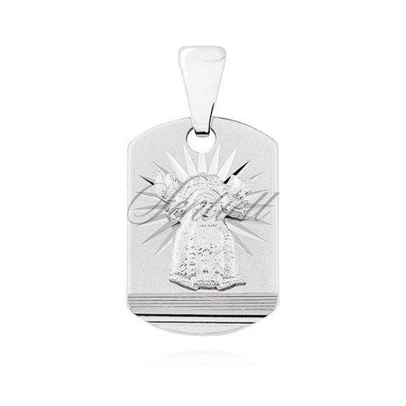 Srebrny (pr.925) medalik diamentowany Matka Boska Nieustającej pomocy